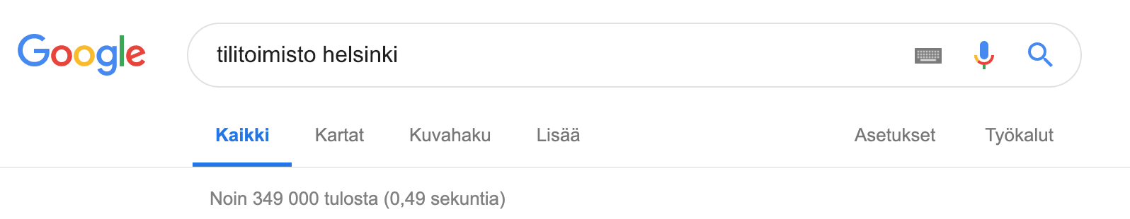 Tilitoimisto-Helsinki haku Googlessa