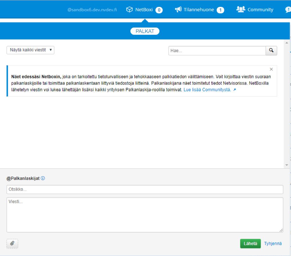 Netvisorin Netboxi tarjoaa tietoturvallisen tavan toimittaa esimerkiksi palkanlaskennan tietojen välittämiseeen palkkahallintoon