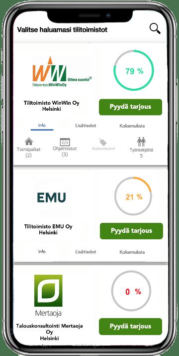 Talouskuutio.fi mobiili auttaa yrityksiä löytämään sopivan Netvisor tilitoimiston